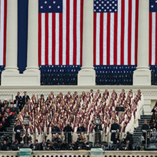 Tabernacle Choir singing at inauguration