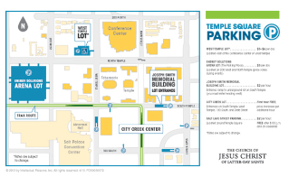 Temple Square Map Complete Guide to Attending Music and the Spoken Word on