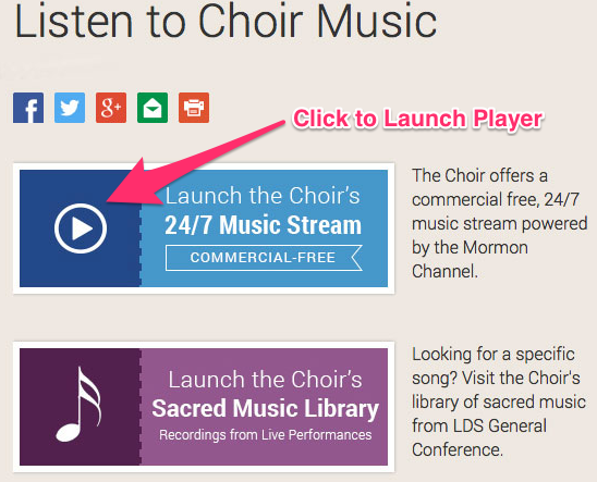 How To Use the Mormon Tabernacle Choir 24/7 Music Stream