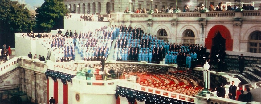 Choir singing at Bush's Inauguration, 1989