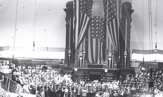 In 1915 the Tabernacle Organ Doubled in Size and Revolutionary Features Were Added