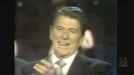 President Reagan Moved by the Choir Singing at His Inauguration Parade