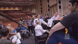 "Backstage: ""Maestro Mack"" - Santino Fontana and the Puppeteers from Sesame Street®"