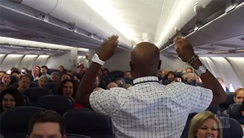 Alex Boyé and Choir Sing on an Airplane